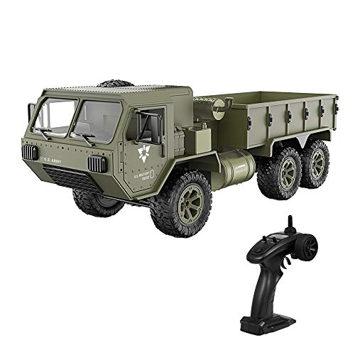 GoolRC Fayee RC Military Truck, 1/12 6WD 2.4GHz Army Truck Off-Road Car RTR Car Gift for Adults Kids Boys