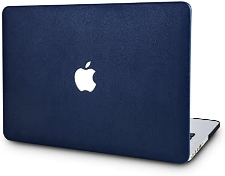 KECC Laptop Case Compatible with MacBook Pro 13 2021 2020 Italian Leather Hard Shell Cover A2338 product image