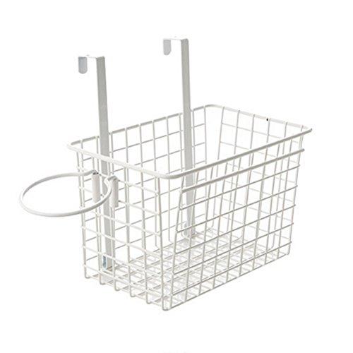 OUNONA ヘアドライヤー収納 浴室キッチンオーガナイザー キッチン収納バスケット(ホワイト)