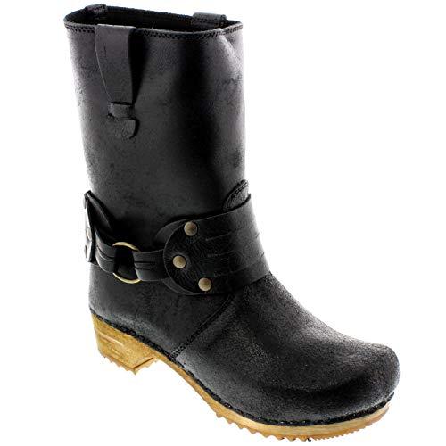 Sanita Mohawk Wood Vintage Leather Boot - Black/EU-40