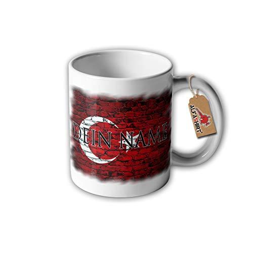 Turkse vlag met uw naam Cup Turkije Türkey naam Heimat #32271