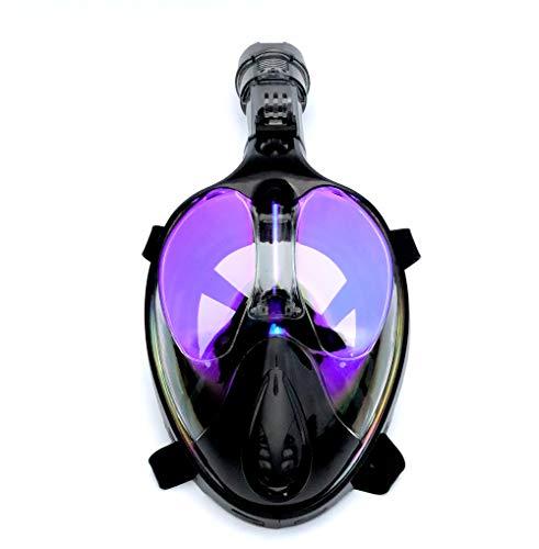 ZXIAQI Máscara De Buceo Submarina Buceo Anti Niebla Cara Completa Máscara De Buceo Snorkel Set con Anillo Antideslizante Snorkel, Unisexo