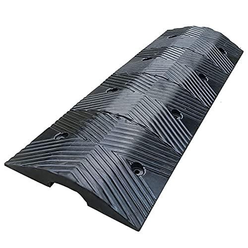 Lqdp Rampas Rampas para sillas de Ruedas para Puertas, Rampas de Seguridad Negras para Exteriores para Muelle de Carga/Entrada de Movilidad, Material de Goma