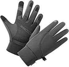 Winter Gloves for Men?Waterproof Thermal Gloves Cold Weather Running Gloves for Men Women, Touchscreen Men's Winter Gloves for Running Cycling Hiking Driving (Gray,M)