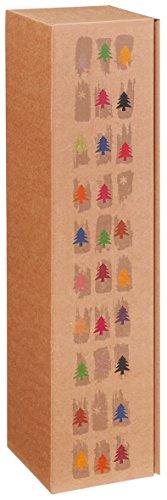 10 Stück 1er Weinkarton, Weinverpackung, Flaschenkarton -Happy Tree für Eine Flasche Wein/Sekt