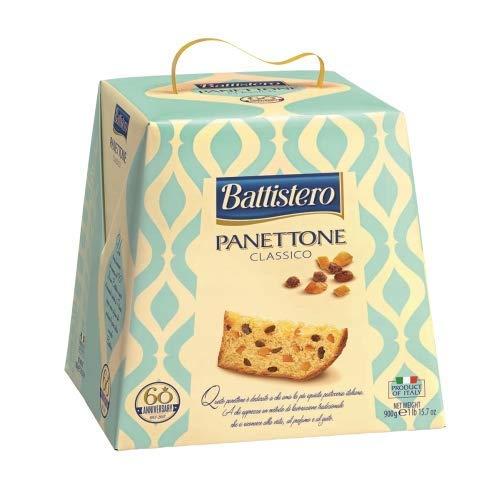 Battistero -Classic Panettone - Zubereitet mit den Zutaten der besten italienischen Tradition - Der Unterschied liegt im Geruch, Geschmack und Vergnügen des Panettone - 500 Gramm