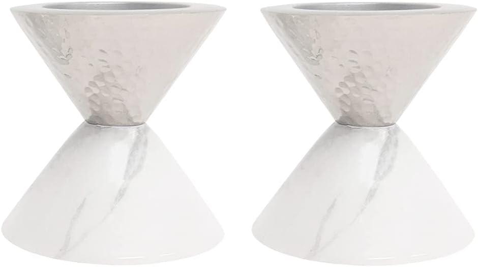 Candle Holder Columbus Mall Votive Marble Design by Set Daily bargain sale - of Godinger 2