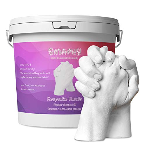 Smaphy Hands Casting Kit | Couple DIY Hand Casting Kit | Hand Holding Craft for Couples, Adult & Child, Family, Friends | Ideal Gift for Birthday, Wedding, Anniversary