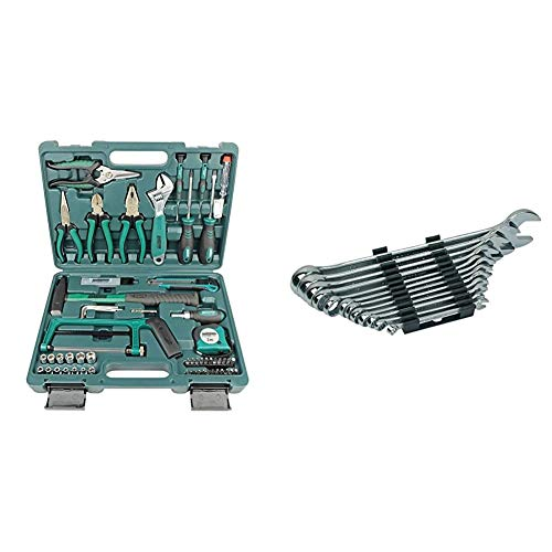 Mannesmann Werkzeuge 74piezas Juego de herramientas, 1pieza, m29074 + M19652 Juego de 12 llaves combinadas 6 a 22 CV