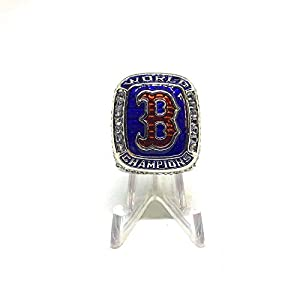 Steve Pearce Boston Red Sox High Quality Replica 2018 World Series Champions Ring Size 11.5-Silver Colored