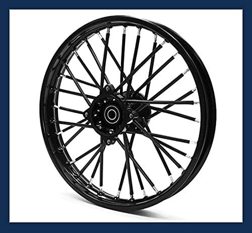 SCAR Couvre Rayon Dirt Bike Pit Mini Moto 50 Roue Jante SPOKE COVERS Skins Vélo Trial - Noir