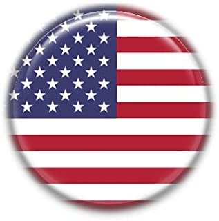 Estados Unidos : Bandera Nacional, Pinback Button Badge 1.50 Inch (38mm)