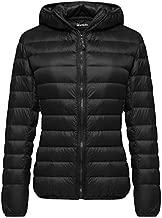 Wantdo Women's Winter Lightweight Down Jacket Packable Warm Coat Black Large