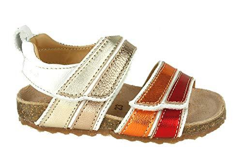 Ocra Blush ROTORANGE offene Sandalen pflanzlich gegerbt Schuhgröße 28
