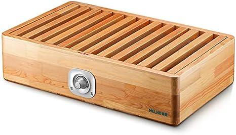 calefactor portátil Calentador del hogar caja de fuego de la parrilla de madera maciza única pequeña mesa artefacto eléctrico barril estufa for hornear rectangular más caliente del pie termostato del