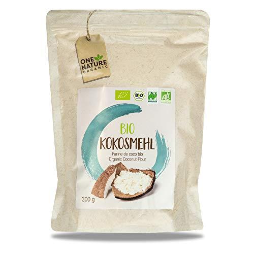 ONE NATURE Organic – 100% BIO Kokosmehl 7x300g – Mehl aus ökologischer Landwirtschaft – Low Carb Alternative (glutenfrei) - Zum Backen von Kuchen, Brot sowie Binden von Soßen und Kochen