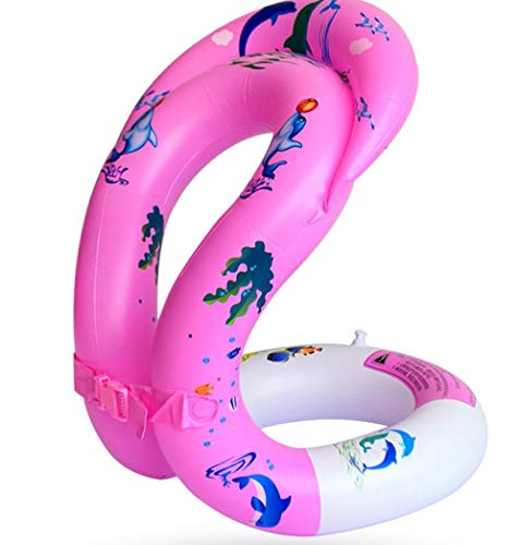 Potlystein Aufblasbarer Schwimmring PVC Kinder Achsel Ring Wasserspielzeug Eltern-Kind Erwachsene tragbare Schwimmweste Schnorchelweste
