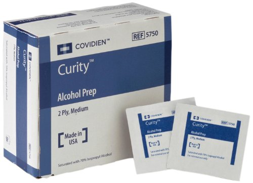 Covidien Curity Alcohol Prep, Sterile, Medium 2-Ply, 200-Count (Pack of 20)