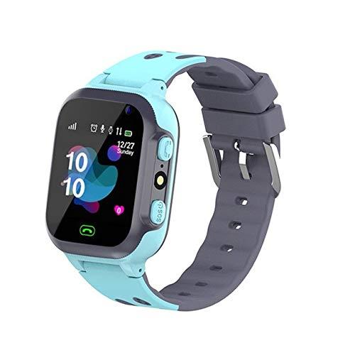 SVNA 2020 Reloj Inteligente Multifuncional para teléfono para niños Sos Anti-perdida Impermeable bebé 2g Tarjeta SIM rastreador de ubicación Pulsera (Color : A)