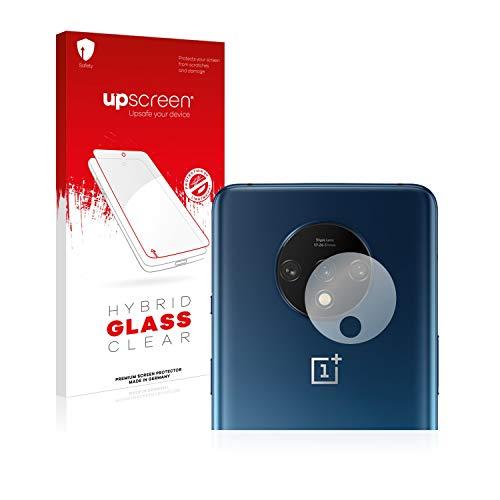 upscreen Hybrid Glass Panzerglas Schutzfolie kompatibel mit OnePlus 7T (Kamera) 9H Panzerglas-Folie