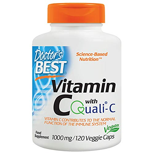 Doctor's Best 1000 mg Vitamin C Feat Quali Capsules - Pack of 120