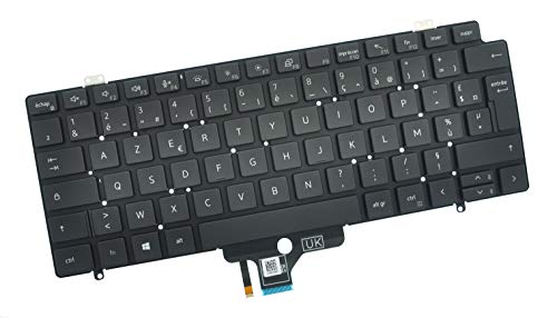 Dell Latitude 7410 French AZERTY Backlit Keyboard K7TDX