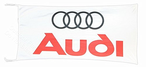 Audi Flagge Banner weiß 2,5x 5ft 150x 75cm