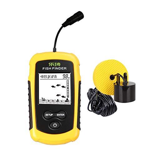 Portable Fish Finder Fish Detector Device Handheld Depth Finder for Boat...