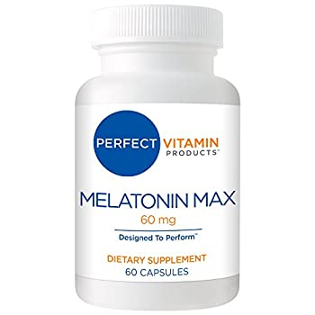 High Dosage Melatonin 60mg,Melatonin Max Ensures an Ample Supply of This Important Hormone 60 Capsules