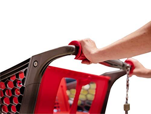 Clipeez Familienbox - Abnehmbare Einkaufswagengriffe - 8 Stück = 4 x Basic Clipeez & 4 x Clipeez XL - gelb, grün, blau und rot - Vermeiden Sie den Kontakt mit Ihrem Einkaufswagen!