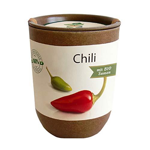 Feel Green Ecocan, Chili, Bio Zertifiziert, Nachhaltige Geschenkidee (100% Eco Friendly), Grow Your Own/Anzuchtset, Die Wachsende Ökodose, Made in Austria