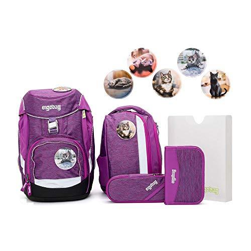 Ergobag Pack Set 6tlg Insel HoppBär mit Wunschkletties Katzen