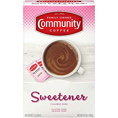 Community Coffee Pink Sweetener Packets, 400 Count (Pack of 2)