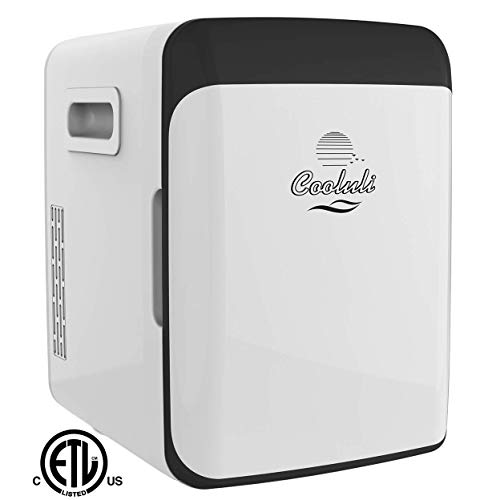 Cooluli Mini Fridge Electric Cooler and Warmer (15 Liter / 18 Can): AC/DC Portable Thermoelectric System (White)