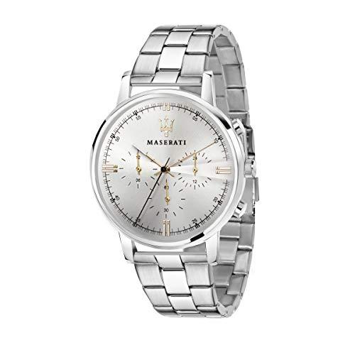 Orologio da uomo, Collezione Eleganza Maserati, movimento al quarzo, multifunzione, in acciaio - R8873630002