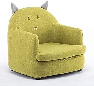 Htimer Children s sofa girl princess cute cartoon chair boy lazy seat mini baby baby small sofa chair  green fabric kitten  detachable