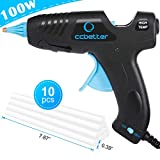 CCbetter Hot Glue Gun, Powerful 100W High Temperature Fire-Resistant Melting Glue Gun + 10pcs Glue Sticks, Perfect for Heavy Duty Tasks, Quick Repairs, DIY Projects, Creative Arts & Crafts
