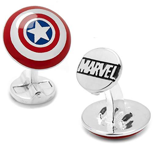 Marvel Captain America Shield Farbe Manschettenknöpfe