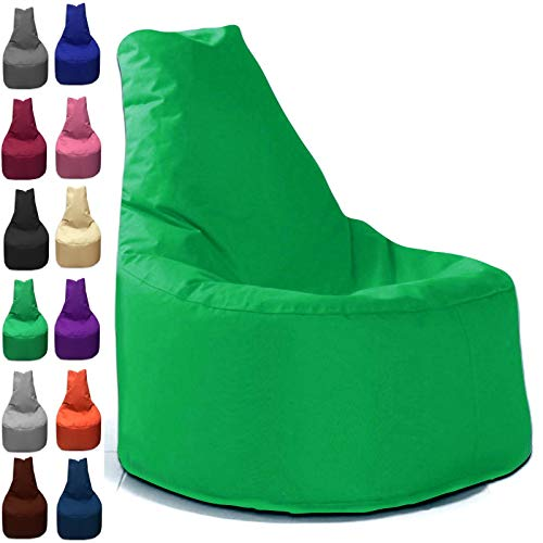 Sitzbag Sitzsack Sessel XL - XXL für Kinder und Erwachsene - In & Outdoor Sitzsäcke Kissen Sofa Hocker Sitzkissen Bodenkissen (XXL - 80cm Durchmesser, Grün)