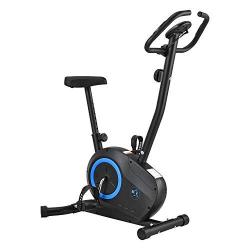 ArtSport Ergometer Rapidero – Heimtrainer Fahrrad mit 5 kg Schwungrad, Riemenantrieb & Pulssensoren – Widerstand einstellbar, Sitz höhenverstellbar
