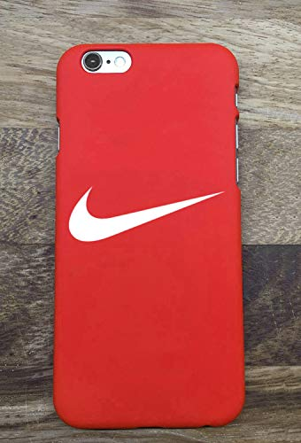 JanTacase iPhone 6 / 6S Funda Cover, Hot Nike Logo Just Do It Hard Plastic Phone Case Funda Cover Bumper for Apple iPhone 6 / 6S (Rojo)