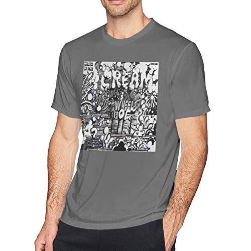 Homme Mens Cream Wheels of Fire Band Tee T-Shirt/Manches Courtes for Men X-Large