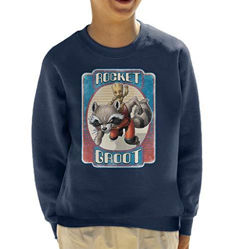 Marvel Guardians of The Galaxy Rocket Groot Kid\'s Sweatshirt