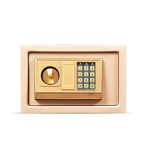 Cabinet Casseforti Household Casseforti piccola parete password elettronico Armadi All Steel Casseforti Piggy Bank Home Office di sicurezza Attrezzature di magazzino ( Color : Gold , Size : One size )