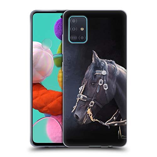 Head Hülle Designs Offizielle Simone Gatterwe Friesisches Pferd Pegasus Und Einhoerner Soft Gel Handyhülle Hülle Huelle kompatibel mit Samsung Galaxy A51 (2019)
