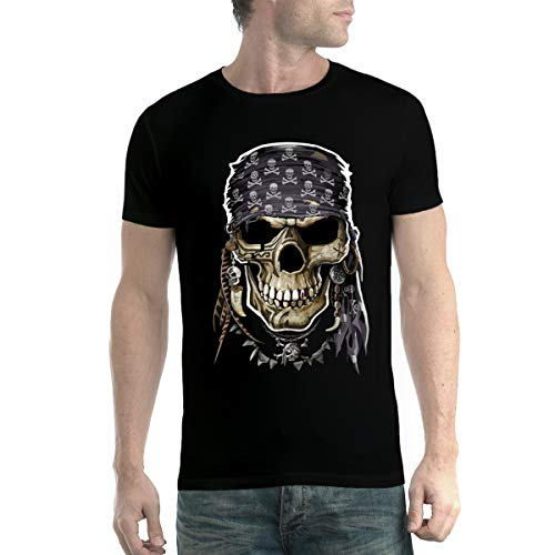 Camiseta para hombre con calavera pirata.