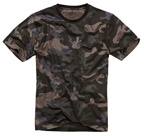 Brandit T-Shirt Camiseta, Darkcamo, 4XL para Hombre