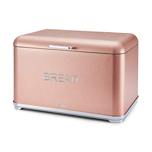 TOWER T826014R Kitchen Bread Bin, Glitz Range, us:one Size, Blush Pink