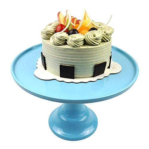"Round Cake Stand 11"" Melamine Cake Display Stand Dessert Cupcake Display Tray for Graduation,Wedding,Birthday,Party,Anniversary,Ceremony Mint 1Pack."