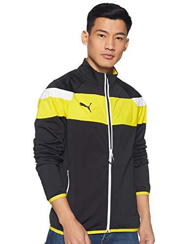 PUMA Herren Jacke Spirit II Trikot Jacket, black-Cyber yellow, M